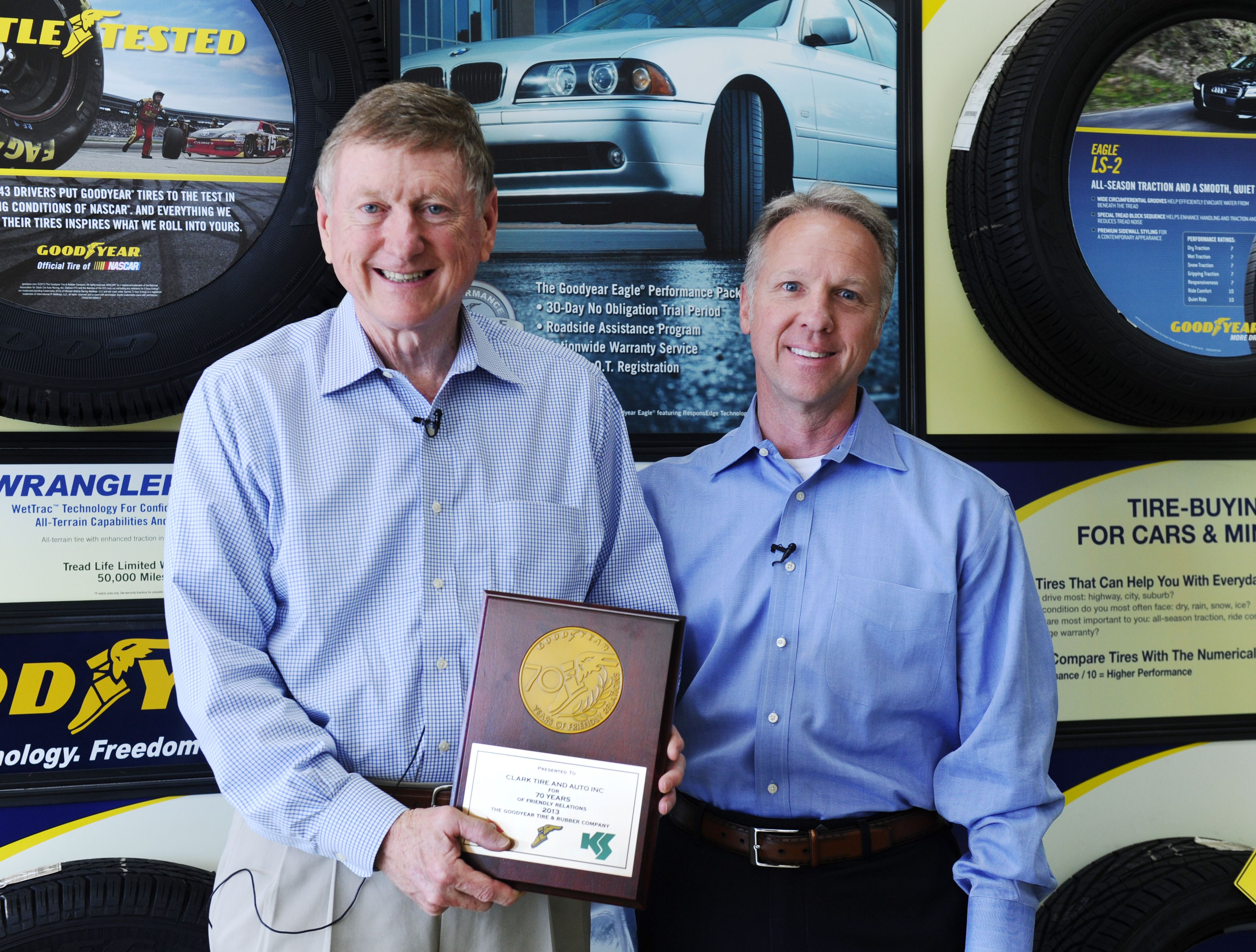 Clark Tire: loyal to Goodyear for 70 years