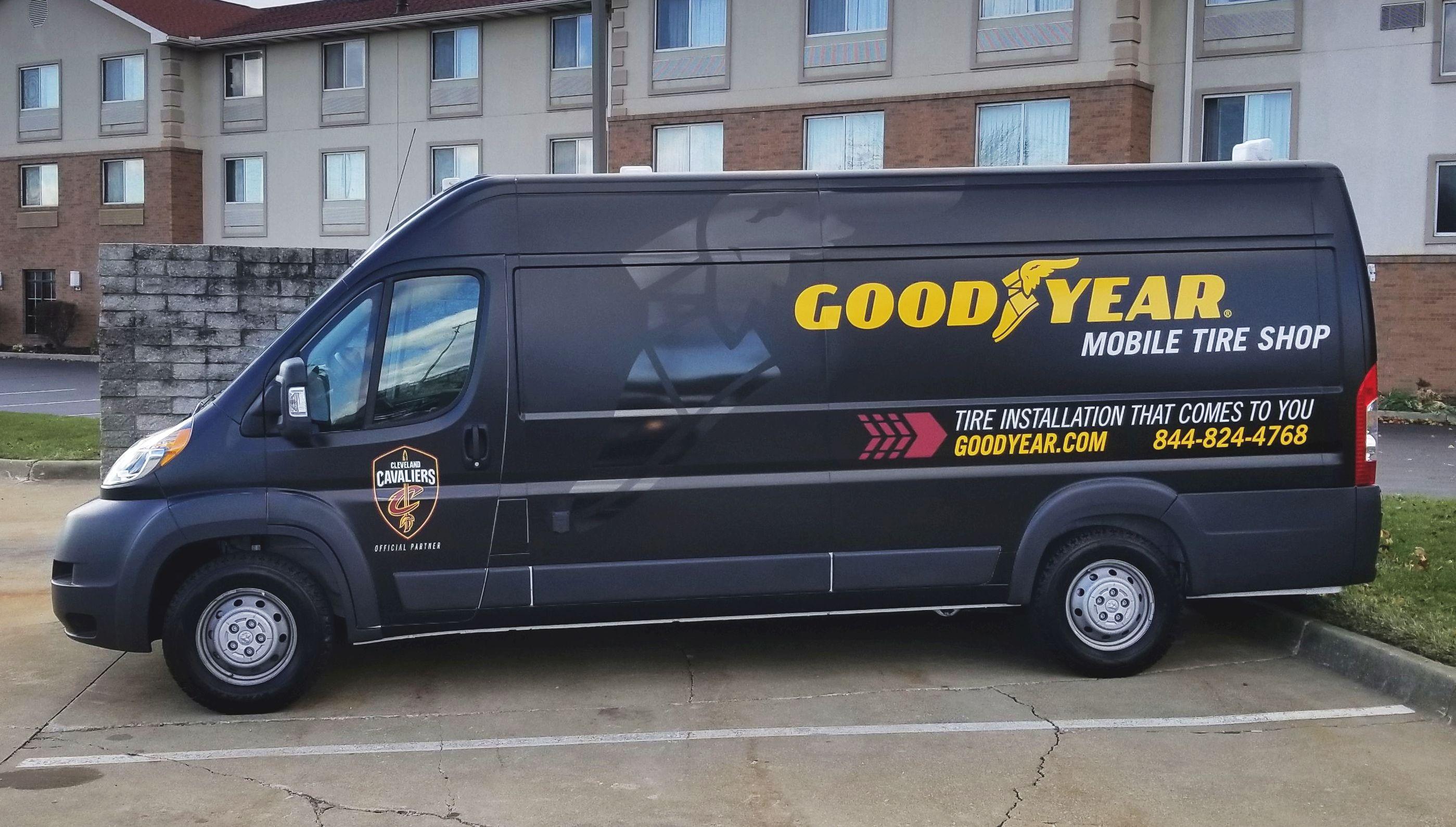 Goodyear Tests a Mobile Tire Shop Program