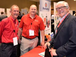 Representatives from Branick meet with Bob Marinez, Midwest sales representative for Modern Tire...