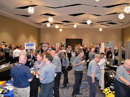There were more than 50 suppliers educating Myers associates about their products.