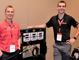 Brendan Webb and Daniel Coyne hosted the Haltec Corp. booth.