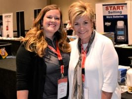 Dorothy Etter, right, director of distribution sales for International Marketing Inc., and Pam...