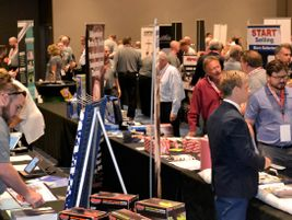 It was up to the sales associates to visit every supplier booth.
