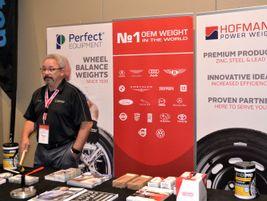 It may seem like Wayne Dyer manned the Wegmann automotive USA Inc. booth by himself, but...