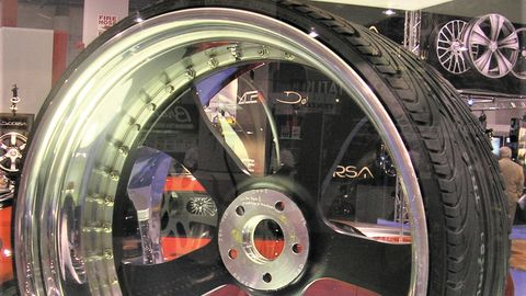 Nexen displayed a 15 aspect ratio tire in its SEMA Show booth in 2009. The company kept the tire...