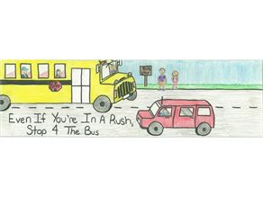 First prize in NYAPT's annual bumper sticker contest went to Christen Lapple of Longwood Central School District.