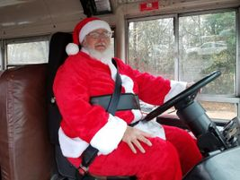 Students and parents alike were surprised to see who was driving a Greenville County (S.C.)...
