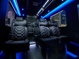 Sprinter The Grech Motors Sprinter shuttle has a 13-passenger capacity. Fitments include wooden...