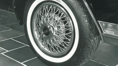 The Royal Seal All-Season radial tire was standard equipment on the 1982 Buick Riviera.