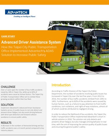 Advanced Driver Assistance System - How the Taipei City Public Transportation Office Implemented...