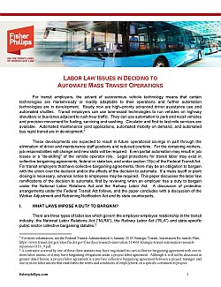 Thinking about automation? Don't forget to consider labor laws along the way.