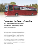 Forecasting the Future of Mobility with Autonomous Heavy Buses