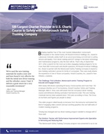 5th Largest Charter Provider in the U.S. Charts Course to Safety with Motorcoach Safety Training Company