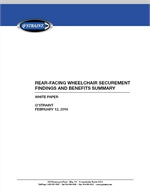 Rear-Facing Wheelchair Securement Findings and Benefits Summary