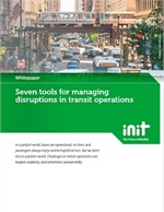 Seven Tools for Managing Disruptions in Transit Operations