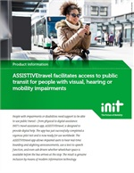 ASSISTIVEtravel Facilitates Access to Public Transit for People With Visual, Hearing or Mobility Impairments