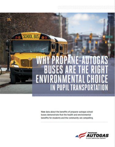 Why Propane-Autogas Buses Are the Right Environmental Choice in Pupil Transportation