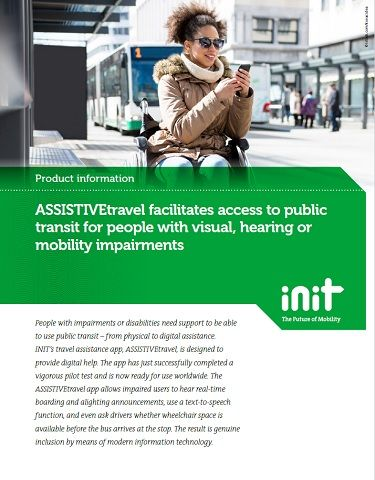 ASSISTIVEtravel Facilitates Access to Public Transit for People With Visual, Hearing or Mobility...