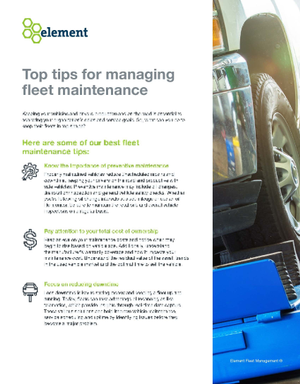 Top Tips for Managing Fleet Maintenance