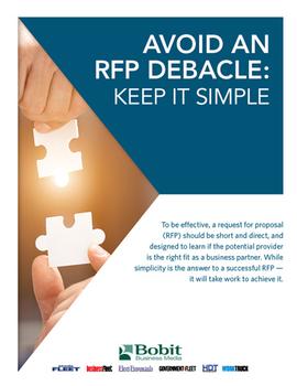 Avoid an RFP Debacle: Keep it Simple