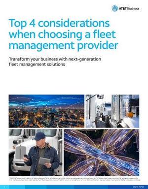 Top 4 Considerations When Choosing A Fleet Management Provider