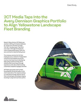 2CT Media Taps Into the Avery Dennison Graphics Portfolio to Align Yellowstone Landscape Fleet...