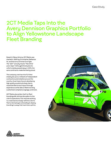 2CT Media Taps Into the Avery Dennison Graphics Portfolio to Align Yellowstone Landscape Fleet Branding
