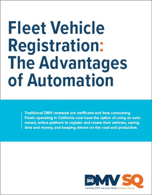 Fleet Vehicle Registration: The Advantages of Automation