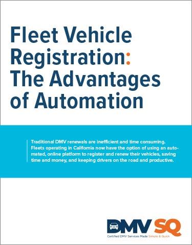 Fleet Vehicle Registration: The Advantages of Automation