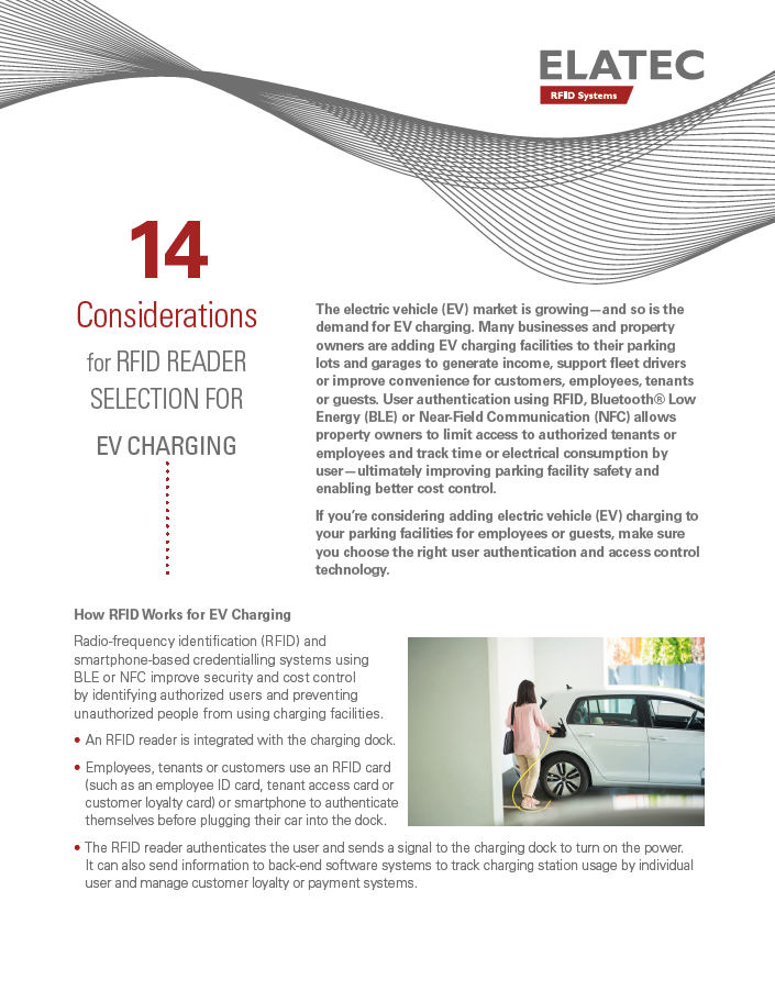 14 Considerations for RFID Reader Selection for EV Charging