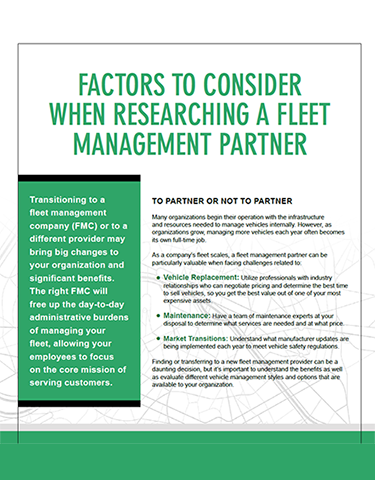 Factors to Consider When Researching a Fleet Management Partner