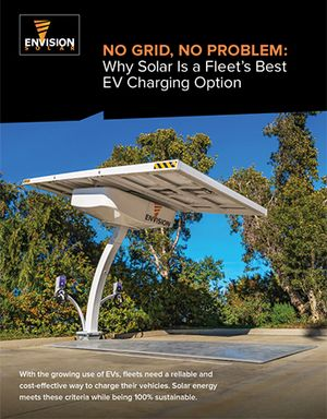 Why Solar Is a Fleet's Best EV Charging Option