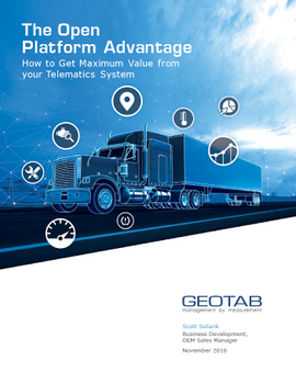 The Open Platform Advantage: How to Get Maximum Value from Your Telematics System