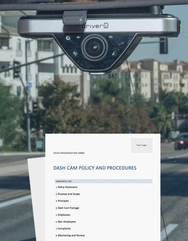 Dash Cam Policy Example