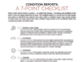 Condition Reports: A 7-Point Checklist