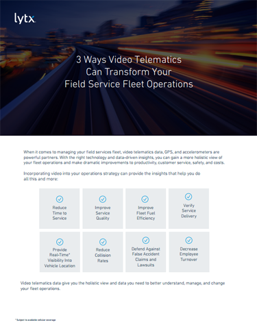 3 Ways Video Transforms Field Services Fleets
