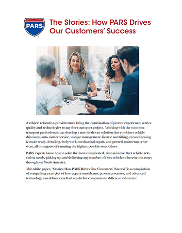 The Stories: How PARS Drives Our Customers' Success