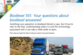 Biodiesel 101: Your questions about biodiesel answered