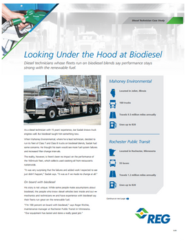 Looking Under the Hood at Biodiesel