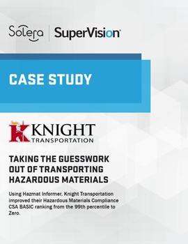 Knight Transportation Improves Hazmat Compliance CSA Basic Score