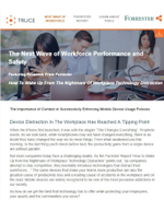 The Next Wave of Workforce Performance and Safety