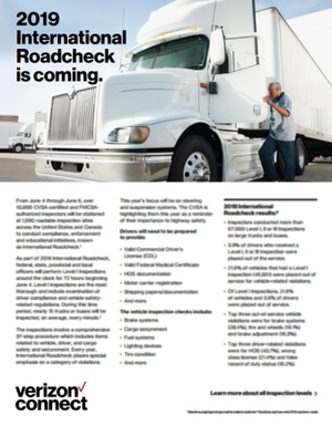 2019 International Roadcheck is Coming