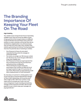 The Branding Importance of Keeping Your Fleet On the Road