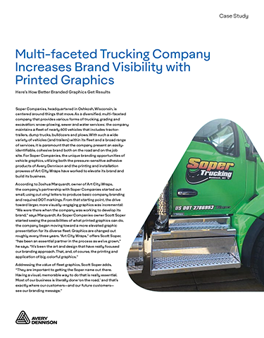 Multi-Faceted Trucking Company Increases Brand Visibility with Printed Graphics