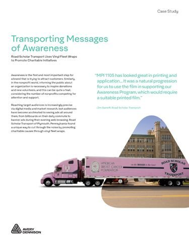 Transporting Messages of Awareness