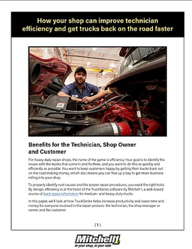 How Your Shop Can Improve Technician Efficiency and Get Trucks Back on the Road Faster