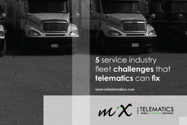 5 Service Industry Fleet Challenges that Telematics Can Fix