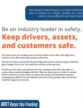 Be an Industry Leader in Safety