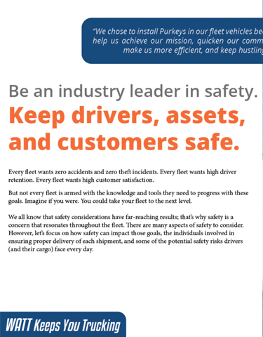 Keep Drivers, Assets, and Customers Safe