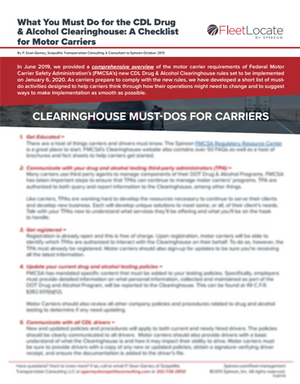 Clearinghouse Must-Dos for Carriers